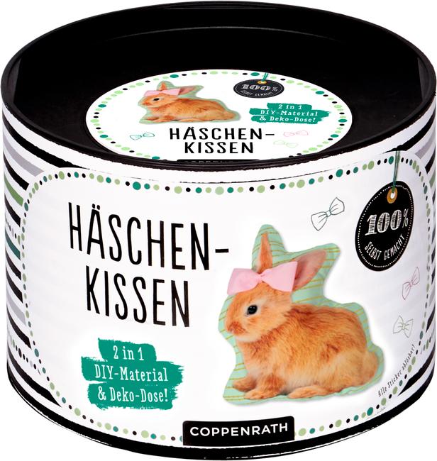 Häschen-Kissen - DIY-Material & Deko-Dose (100% selbst gemacht)