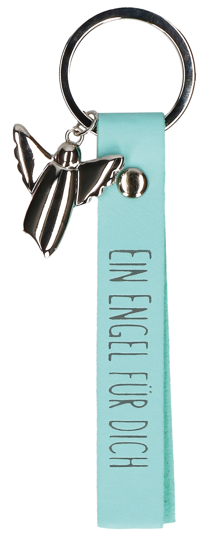 Schlüsselanhänger Schutzengel mit Lederband