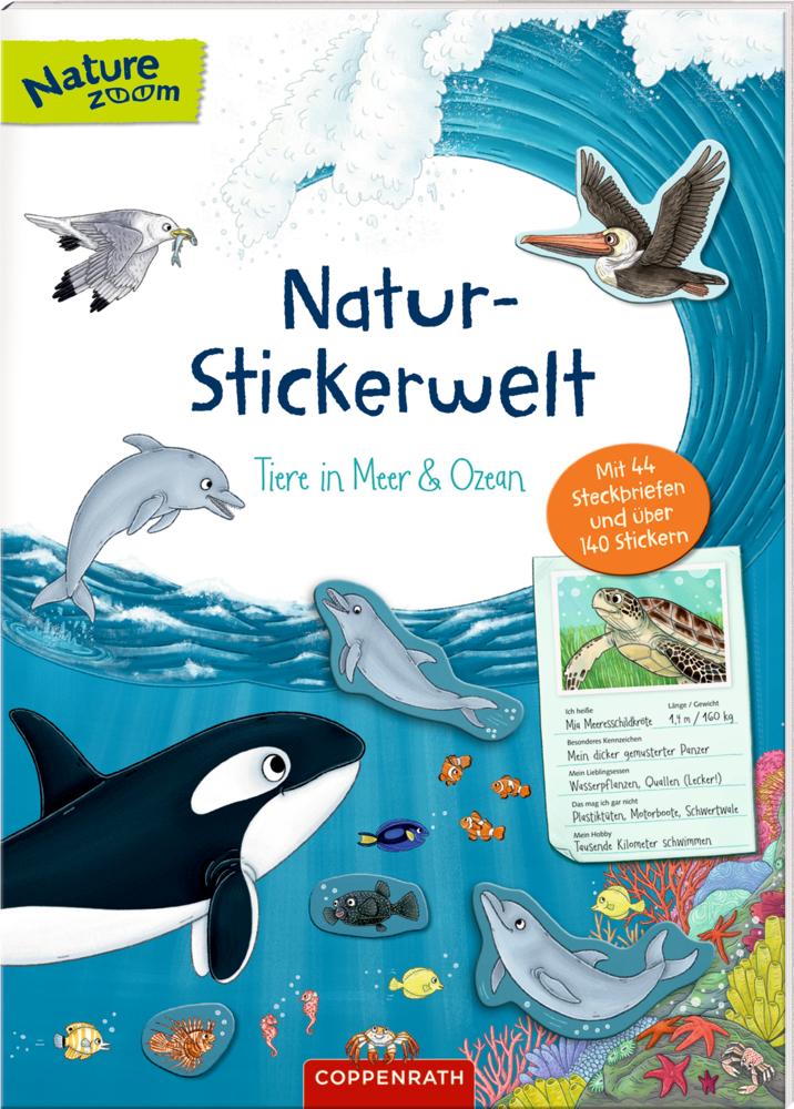 Natur-Stickerwelt: Tiere in Meer & Ozean (Nature Zoom)