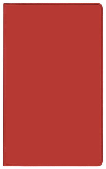 Taschenkalender Modus XL geheftet PVC rot 2022
