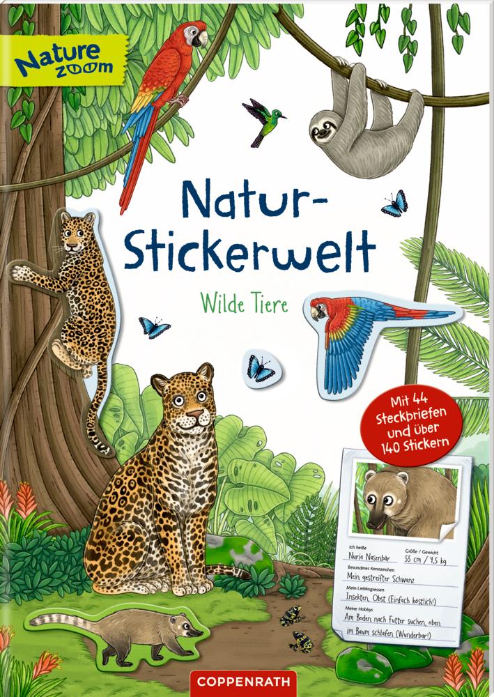 Natur-Stickerwelt: Wilde Tiere (Nature Zoom)