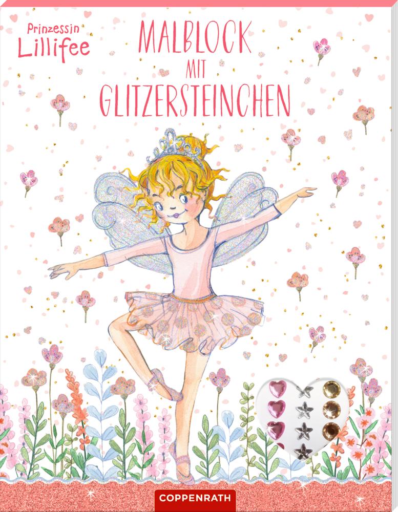 Prinzessin Lillifee: Malblock mit Glitzersteinchen