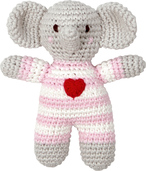 Häkel-Rassel Elefant BabyGlück, rosa
