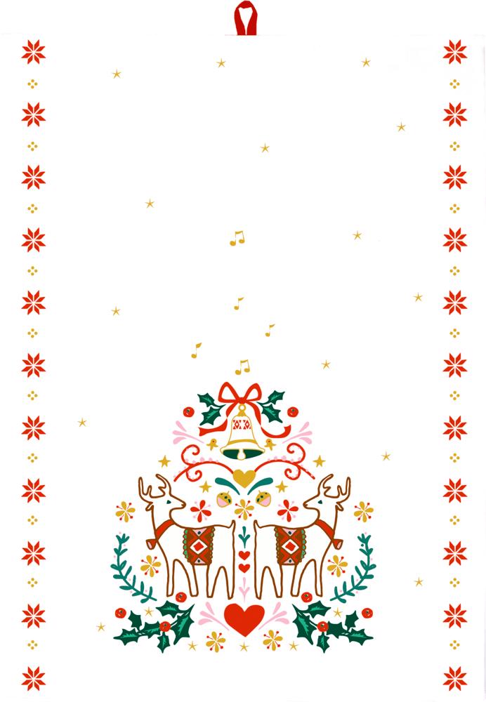 """Geschirrtuch Weihnachten """"Alle Jahre wieder …"""""""