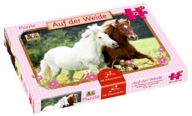 Boxpuzzle Auf der Weide Pferdefreunde (72 Teile)