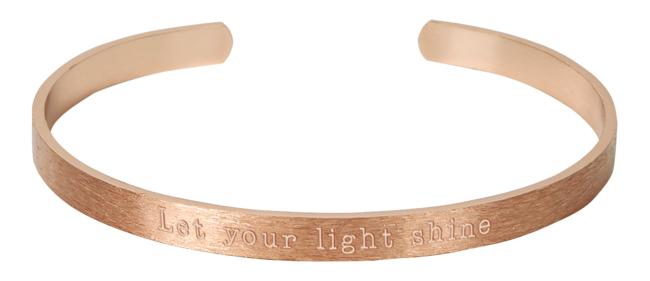 Armreif - Let your light shine (rosévergoldet)