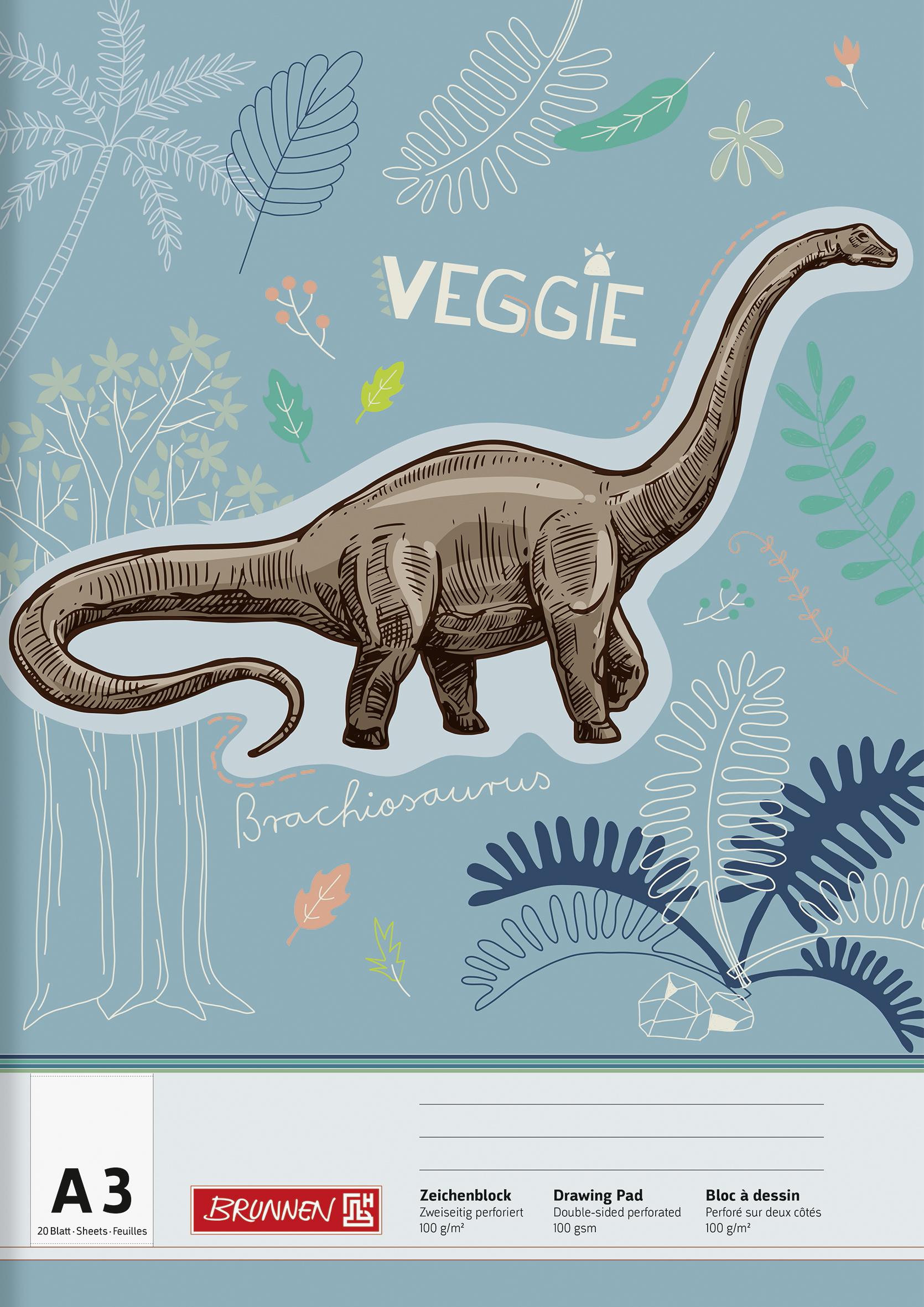 Zeichenblock A3 Dinosaurier