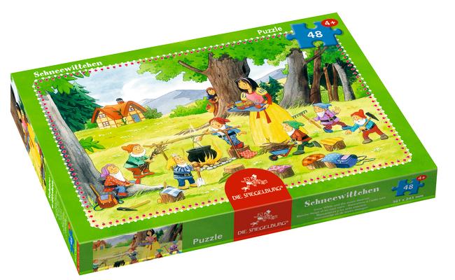 Boxpuzzle Schneewittchen und die sieben Zwerge (48 Teile)