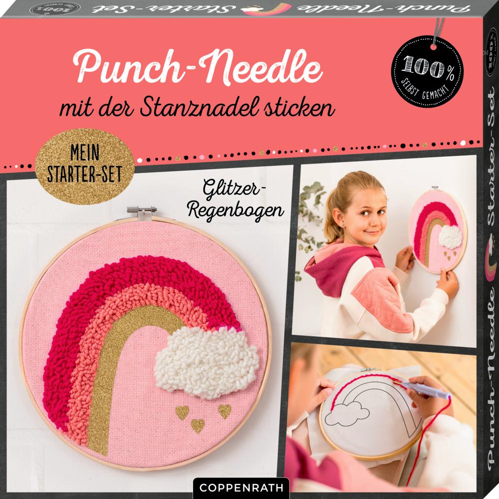 "Punch-Needle Starter-Set ""Glitzer-Regenbogen"" (100% s.g.)"