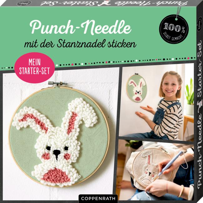 """Mein Punch-Needle Starter-Set """"Häschen"""" (100% s.g.)"""