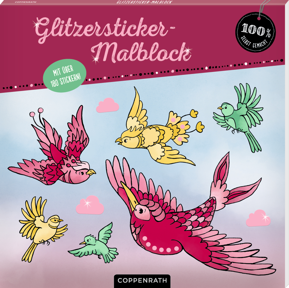 Glitzersticker-Malblock (100% s.g.)