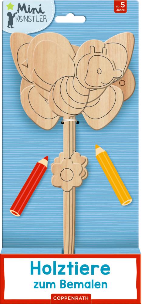 Holztiere zum Bemalen (Mini-Künstler)