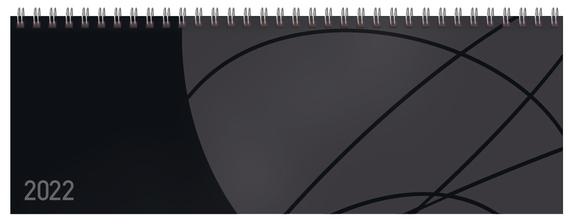 Tischquerkalender Professional Colourlux schwarz 2022