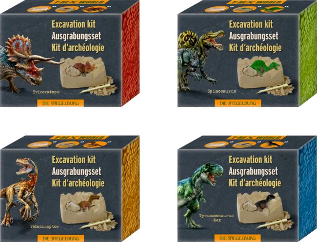 Mini-Ausgrabungsset Dino-Figur T-Rex World, sort.