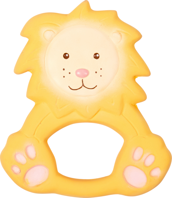 Beißring aus Naturkautschuk Löwe Louis BabyGlück