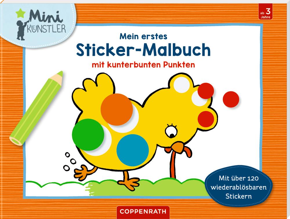 Mein 1.Sticker-Malbuch m.kunterbunten Punkten (Mini-Künstl.)
