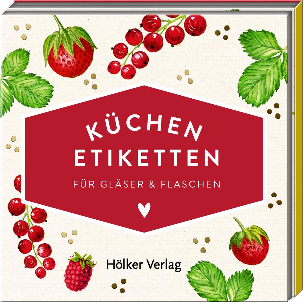 Küchen-Etiketten f.Gläser&Flaschen, Rote Beeren (Küchenpap.)