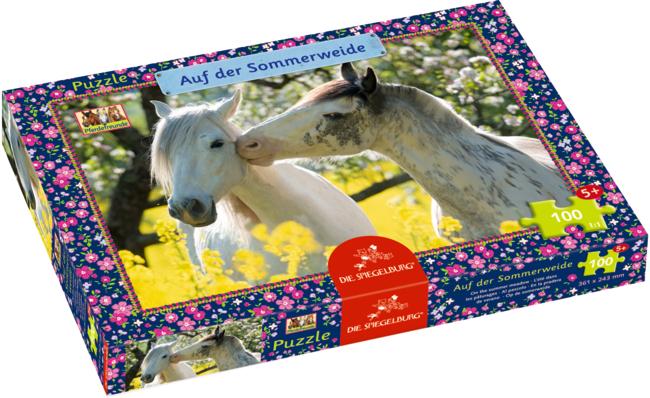 Boxpuzzle Auf der Sommerweide Pferdefreunde (100 Teile)