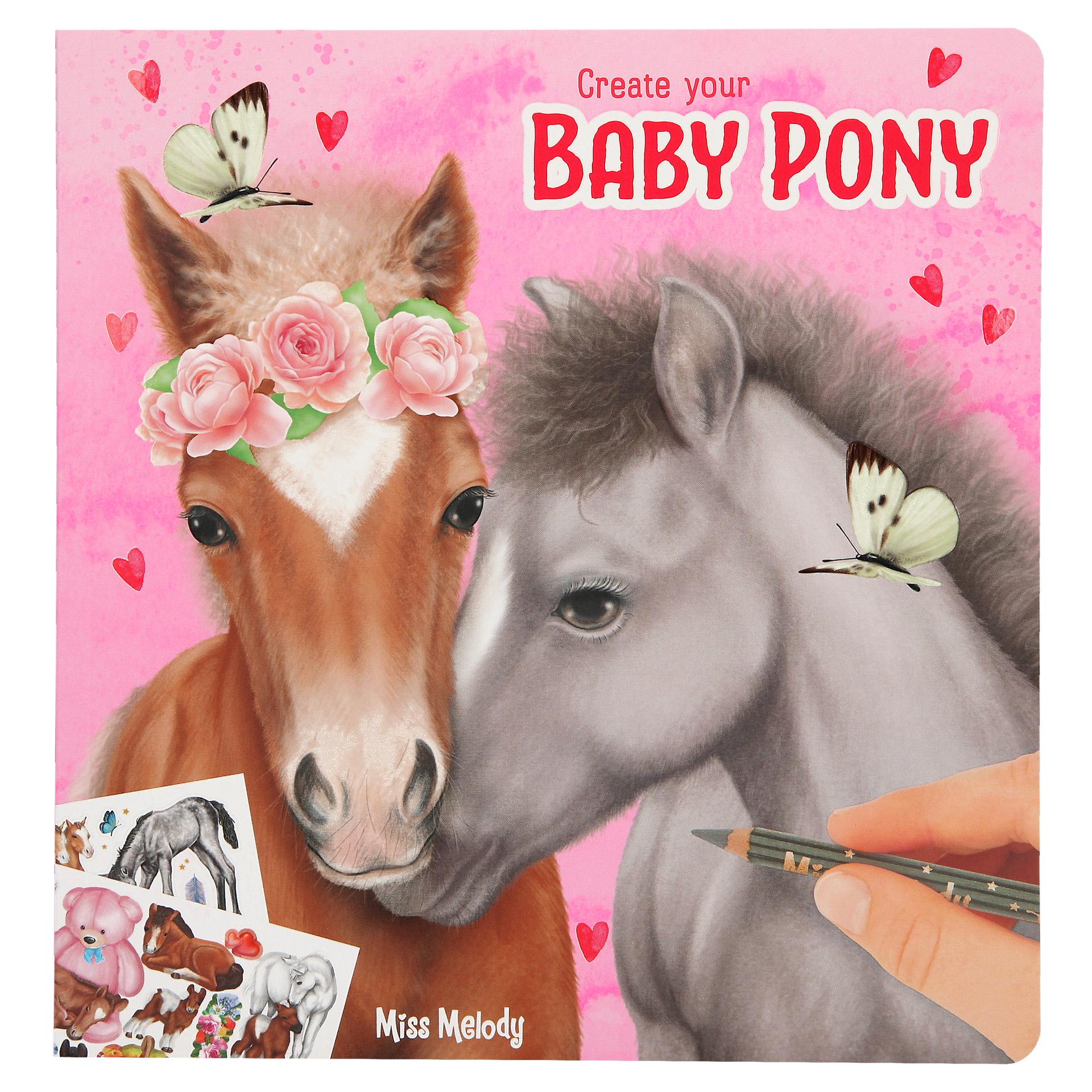 Create your Baby Pony - Mal- und Stickerbuch