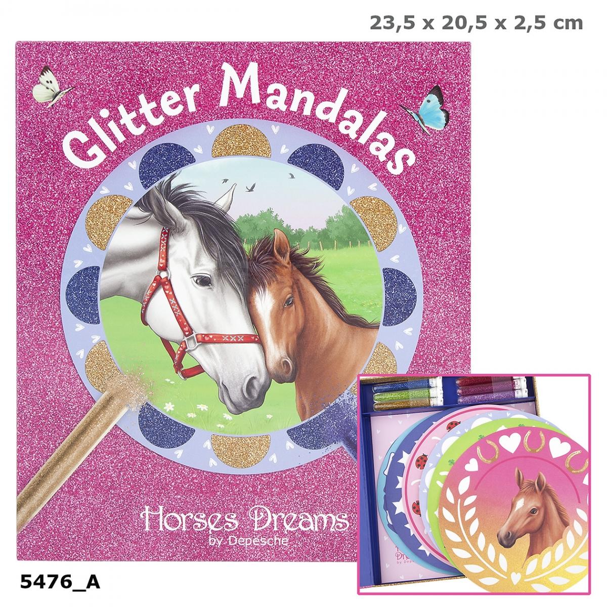 Horses Dreams Glitter Mandalas Creativeset Box