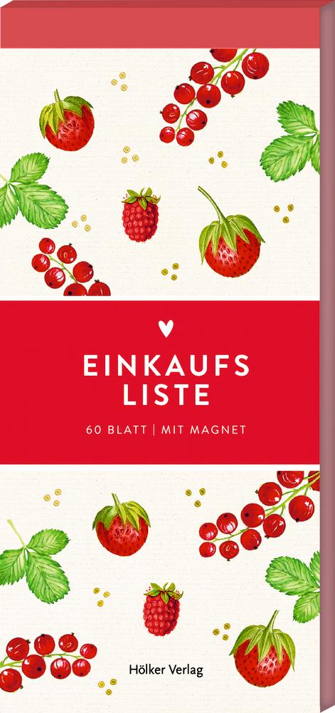 Einkaufsliste, Rote Beeren (Küchenpapeterie)