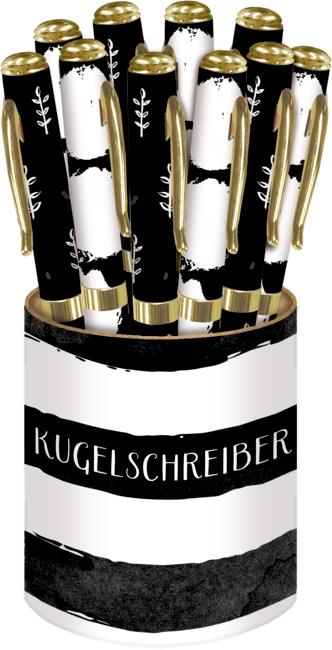 Kugelschreiber All about black & white sortiert